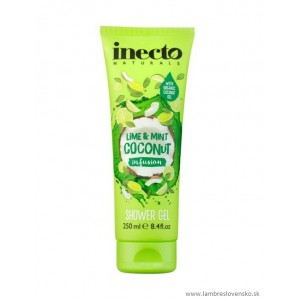 Sprchový gél Inecto Pure  Coconut - Limetka & mäta 250ml